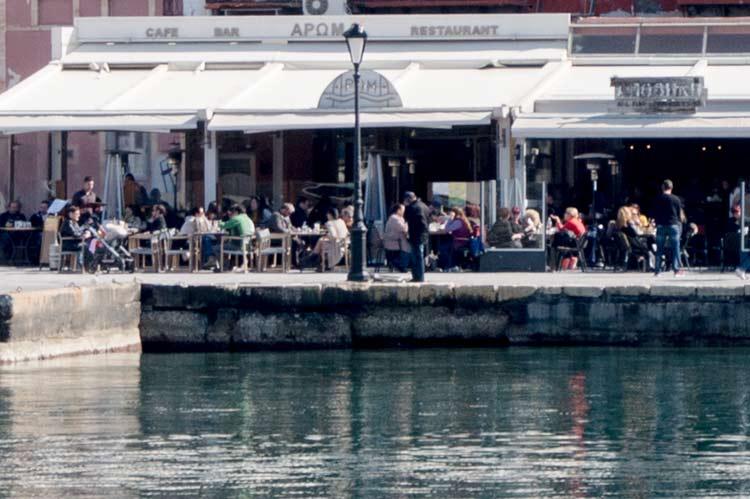 A café by the sea front